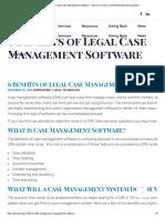 6 Benefits of Legal Case Management Software