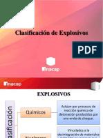 Clasificacion de Los Explosivos
