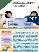 Model Pembelajaran Dick and Carey KELOMPOK VII