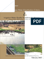 National Surface Water Classification Criteria