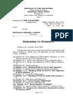 Demurrer to Evidence - Marane