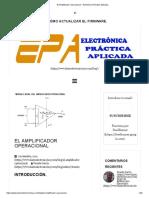 El Amplificador Operacional – Electrónica Práctica Aplicada