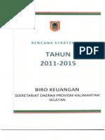 Renstra Biro Keuangan Tahun 2011-2015