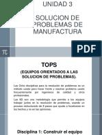 UNIDAD 3. solucion de problemas de manufactura