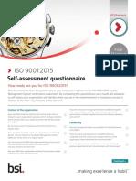 ISO 9001 2015 Self Assessment Checklist