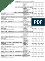Uitslagen en Standenlijst per 20-09-2010
