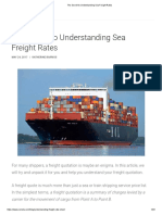 The Secret to Understanding Sea Freight Rates