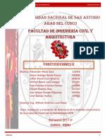 Inspeccion y Evaluacion de La Avenida Universitaria- Construcciones II- Ing Willian Luna