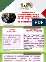 Monitoreo y Acompañamiento a La Implementación de Los Compromisos Para La Gestión Escolar-me