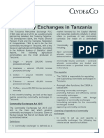 Commodies Exchanges in Tanzania - May 2018