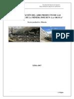 Modelacion Contaminación Del Aire Producto de Las Actividades de La Minera Doe Run- La Oroya