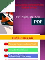 Kepemimpinan Perawat Di Kamar Bedah Rs-prayetni, Skp, Mkes
