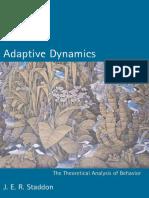 [J. E. R. Staddon] Adaptive Dynamics the Theoreti(B-ok.xyz)