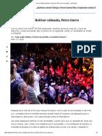 En Una Plaza de Bolívar Colmada, Petro Cierra Campaña - Las2orillas