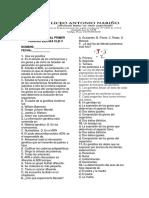 Evaluación Final Primer Periodo Bilogía Clei V