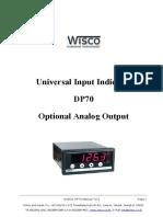 DP70 Analog Output Manual Eng