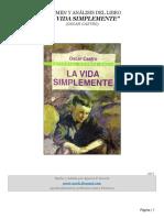 Resumen y Análisis de La Vida Simplemente (de Oscar Castro)
