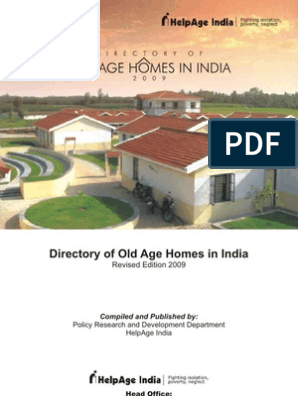 Directory of Old Age Homes in India 2009