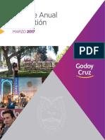 Informe Anual Marzo 2017 Godoy Cruz