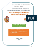 Número especifico de revoluciones de distintas Centrales Hidráulicas del Perú
