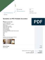 Quotation on PVC Foldable Accordion