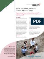 Essar Establishes Financial Shared Services Center -Capgemini LBS