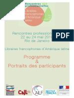 Portraits Rencontres libraires francophones