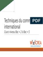 Cours Techniques Du Commerce International