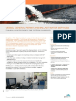 Vessel General Permit and Ballast Water Compliance Testing - DHI Solution Flyer