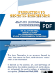 Introduction of Geomatic