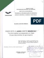 Tese - Zuleika a. Arruda - Onde Está o Agro Deste Negócio... Mato Grosso e Agronegócio...