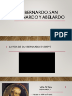 Teologia Monastica y Escolastica, San Bernardo, Bernardo y Abelardo Para Presentacion