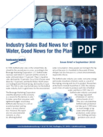Industry Sales Bad News for Bottled Water, Good News for the Planet