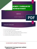 STANDAR PELAYANAN FARMASI  DI RUMAH SAKIT - MUR.pptx
