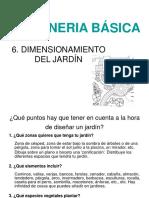 6. Dimensionamiento Del Jardín