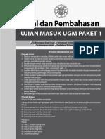 eBook Pembahasan Latihan Soal UTUL UGM SAINTEK