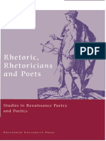 Epdf.tips Rhetoric Rhetoricians and Poets Studies in Renaiss