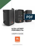 JBL EON208P UserGuide Manual