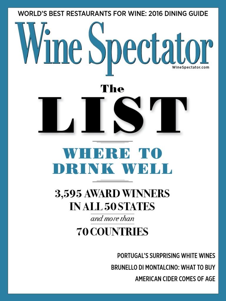 c628df515 Wine Spectator Vol. 41 N 06 (31 August 2016) | Phenolic Content In Wine |  Retail
