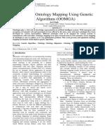 Optimizing Ontology Mapping Using Genetic Algorithms (OOMGA)