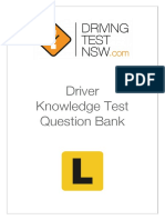 Driver Knowledge Test Question Bank Drivingtestnsw