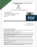 Admit Card Print PDF