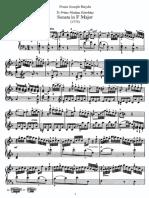 Piano Sonata No 23 in F
