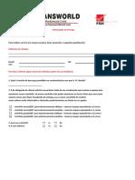 Formulário de Entrega