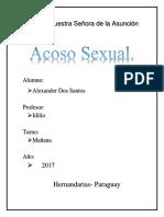 Trabajo sobre  Abuso Sexual