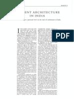 Romi Khosla - Current Architecture in India