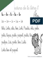 Ficha de Lectura de La Letra L