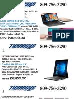Laptops Dell Catalogo TICOMSYS Marzo 2018