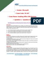 PassLeader 70-347 Exam Dumps (1-30)