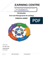 Formula Sheet_Cost & Management Accounting-Executive-Revision